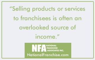 Selling to franchisees for extra income