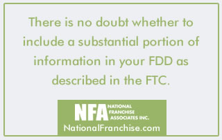 FTC rules for FDD information